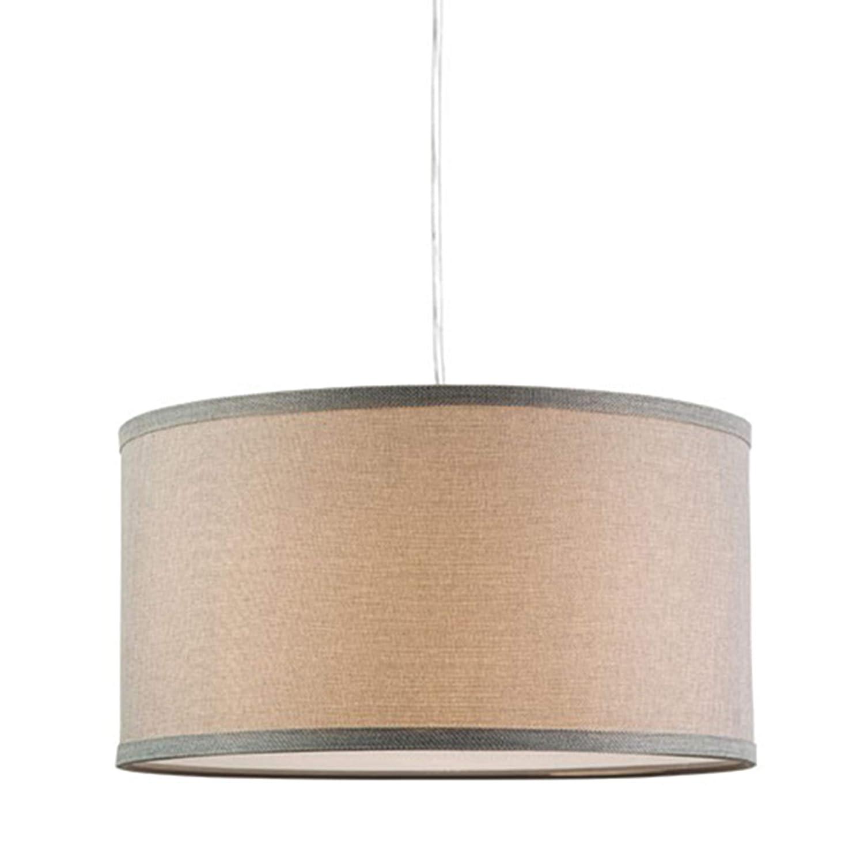 Messina Drum Pendant Ceiling Light – Heather Gray Shade – Linea di Liara LL-P719-HG