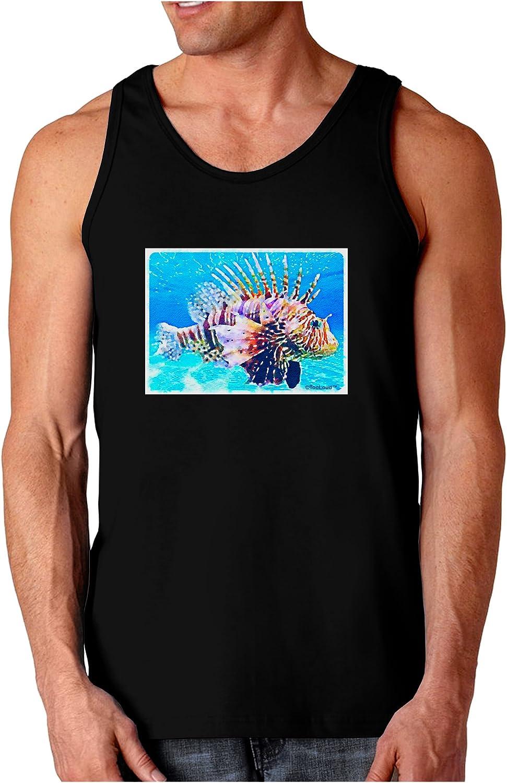 TooLoud Lionfish in Watercolor Dark Loose Tank Top
