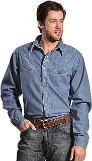 product image for Schaefer Outfitters Men's Vintage Chisholm Long Sleeve Denim Work Shirt - 6060 Denim