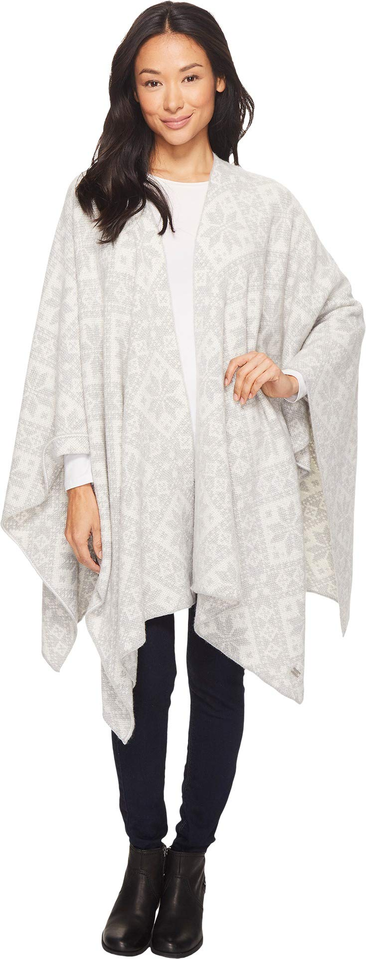 Dale of Norway Rose Shawl, Charcoal/Off-White, One Size