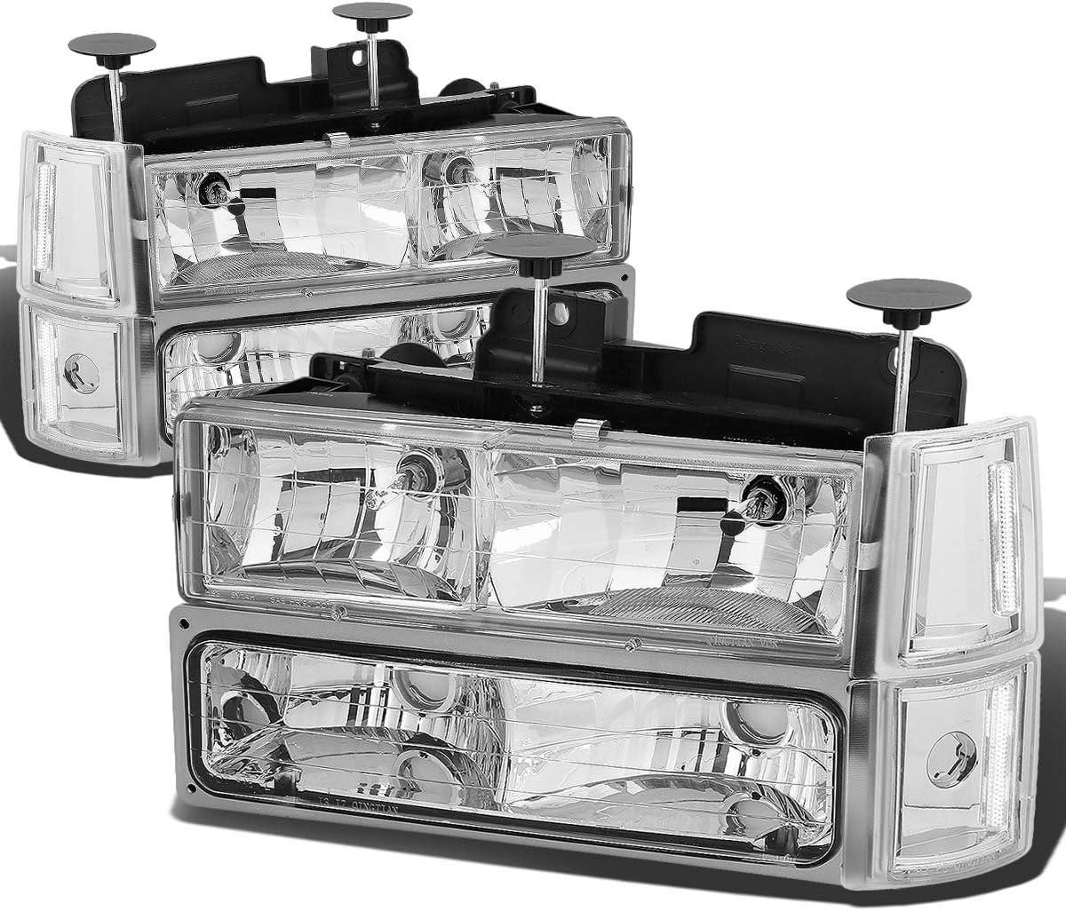 Driver /& Passenger Side DNA Motoring HLOH8PC103GCHAM Headlight