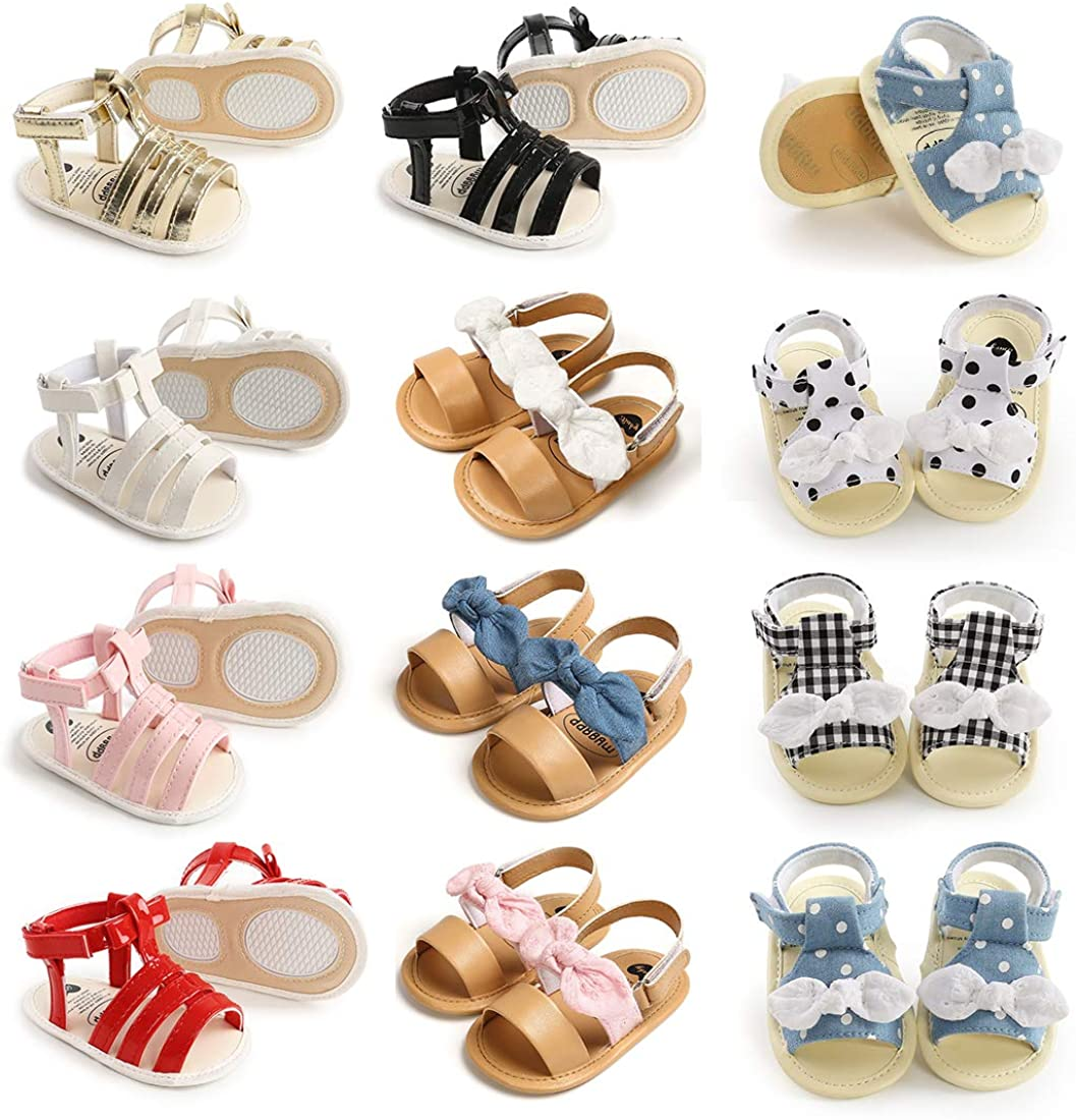 Summer Infant Baby Boy Girl Sandals Prewalker Newborn Leather Soft Sole Crib Shoes