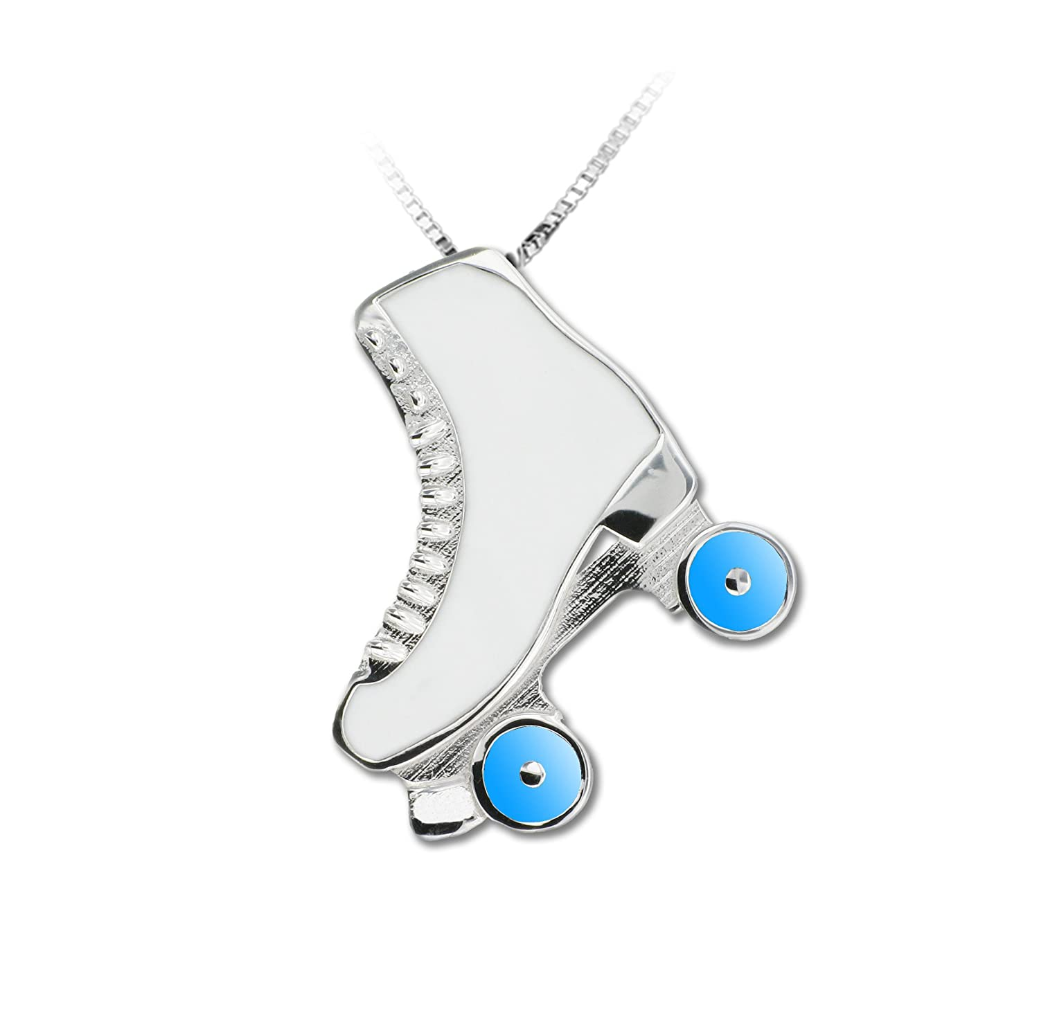 MIKELART Jewel Pendant Roller Skate Enamelled Light Blue Small