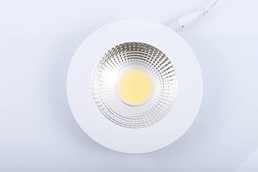 10 watt cob led panel flach rund deckenlampe spot kaltweiß 230 v