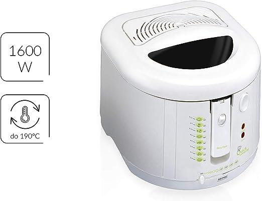 MPM DF-802 Freidora eléctrica compacta, 2 litros cubeta desmontable lavable antiadherente regulador hasta 190°C, libre BPA, 1600W: Amazon.es: Electrónica
