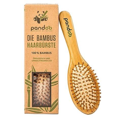 Cepillo para el pelo con cerdas naturales. Vegano y respetuoso con el medio ambiente.