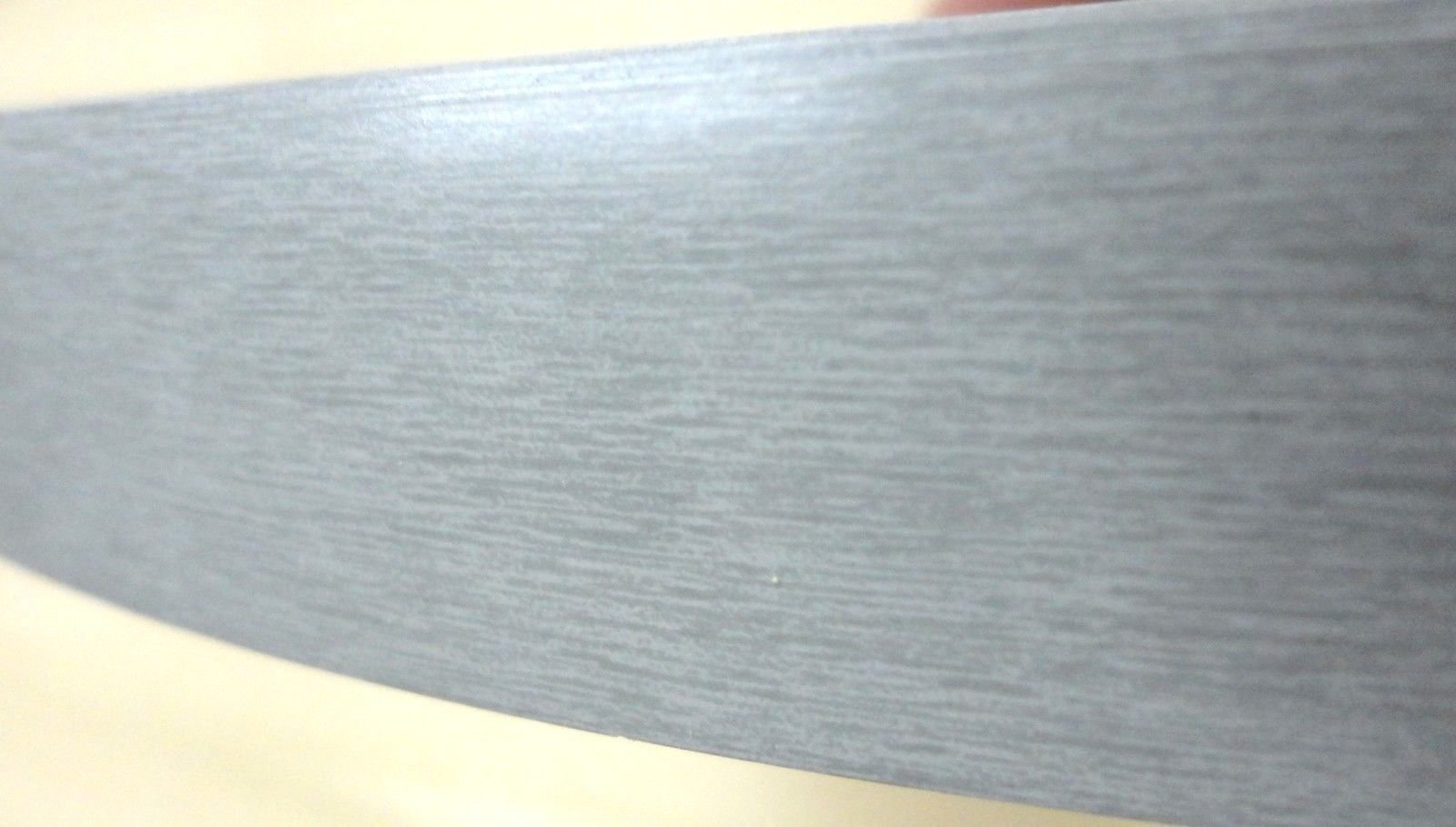 Brushed Aluminum PVC edgebanding 15/16'' x 120'' with no adhesive (simulated)