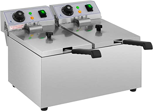 Royal Catering Freidora Electrica Profesional Doble Para ...