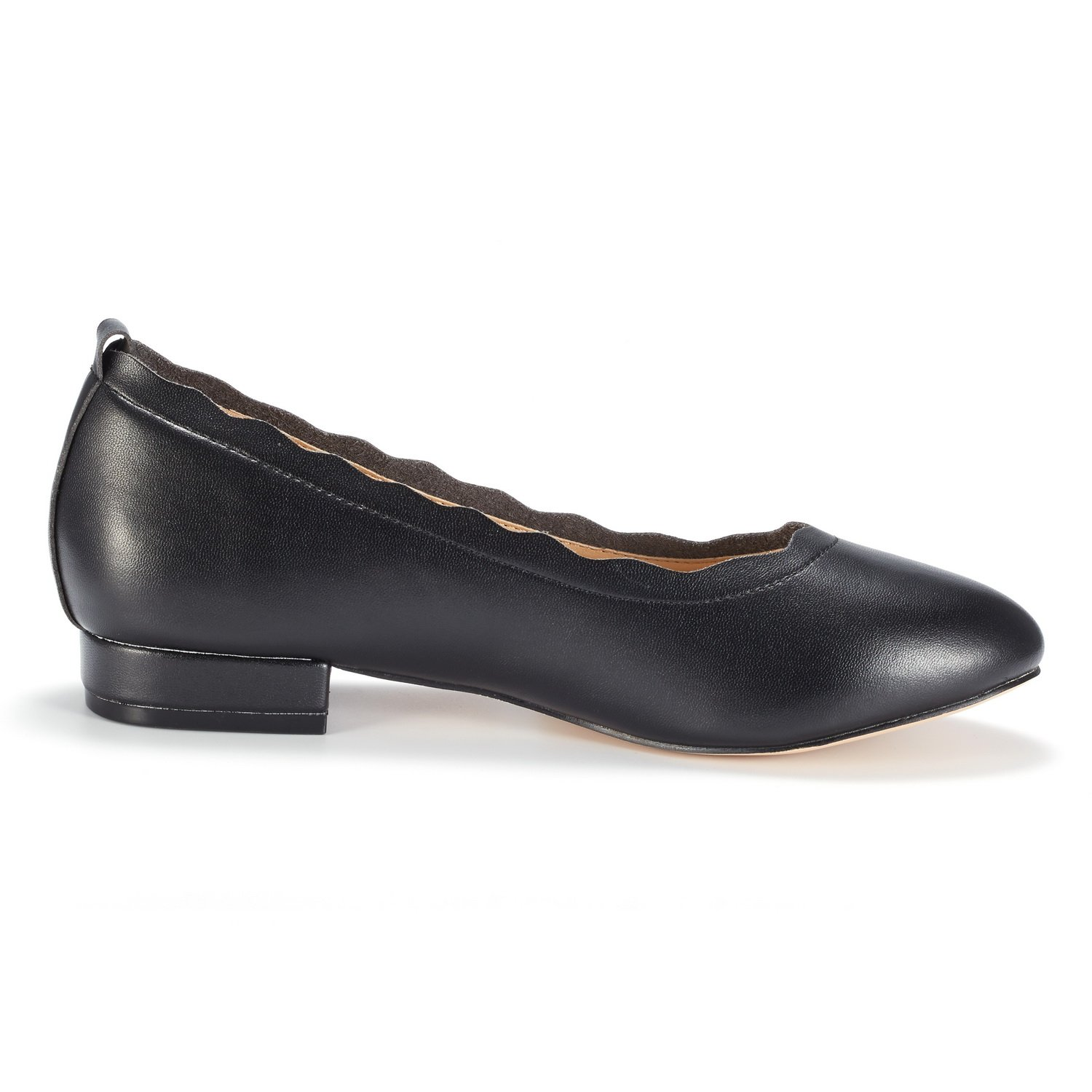 DREAM PAIRS Women's Sole_Elle Black/PU Fashion Low Stacked Slip On Flats Shoes Size 8.5 M US by DREAM PAIRS (Image #2)