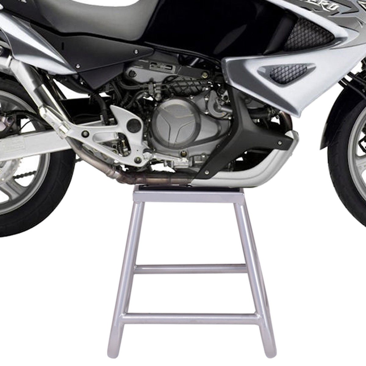 Goplus Motorcycle Motocross Dirt Bike Panel Stand Hoist Maintenance Lift Jack 1000LB Capacity (10''× 10'' Without Removable Oil Pan) by Goplus (Image #2)