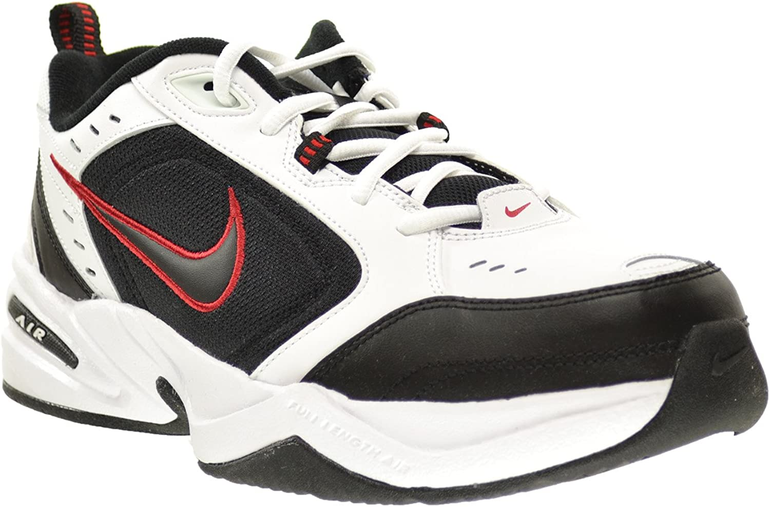 Nike Air Monarch Iv, Basses et Slip-on Homme Blanc Noir Varsity Rouge