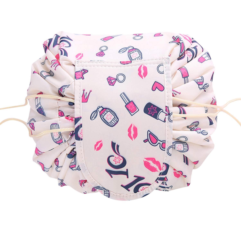 fc58177795f9 Lazy Drawstring Cosmetic Bag,ISCRIO Portable Makeup Bag Large Capacity  Waterproof Travel Quick...