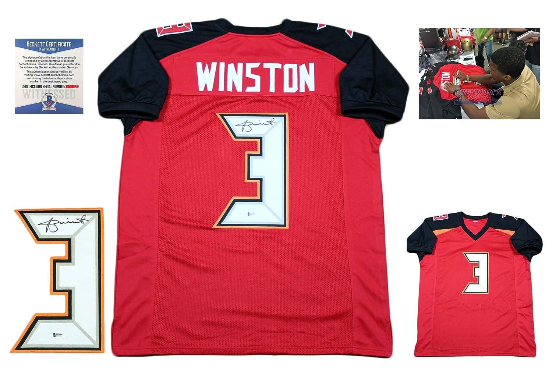 0f3799be Jameis Winston Autographed Signed Custom Jersey - Beckett - Pro ...