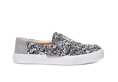 cd005155b2021 TOMS Women's Altair Slip-On Navy Floral Sneaker 5 B (M)