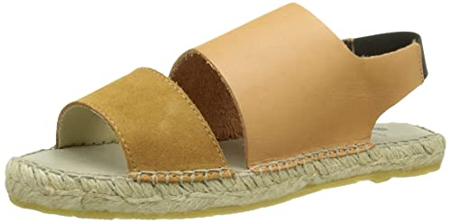PIECESPSJADE Leather Espadrillos Sandal - Alpargata Mujer, Color Marrón, Talla 39