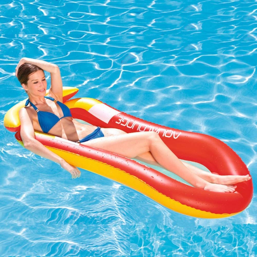 B TXYANG Inflatable Floating Bed Lounge Float Water Hammock Float Lounger Pool Float Bed Beach Inflatable Lounge Bed Chair Swim Float Kids Adult