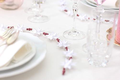Winterdeko Tischdeko Hochzeitstisch Petrolblau Stern