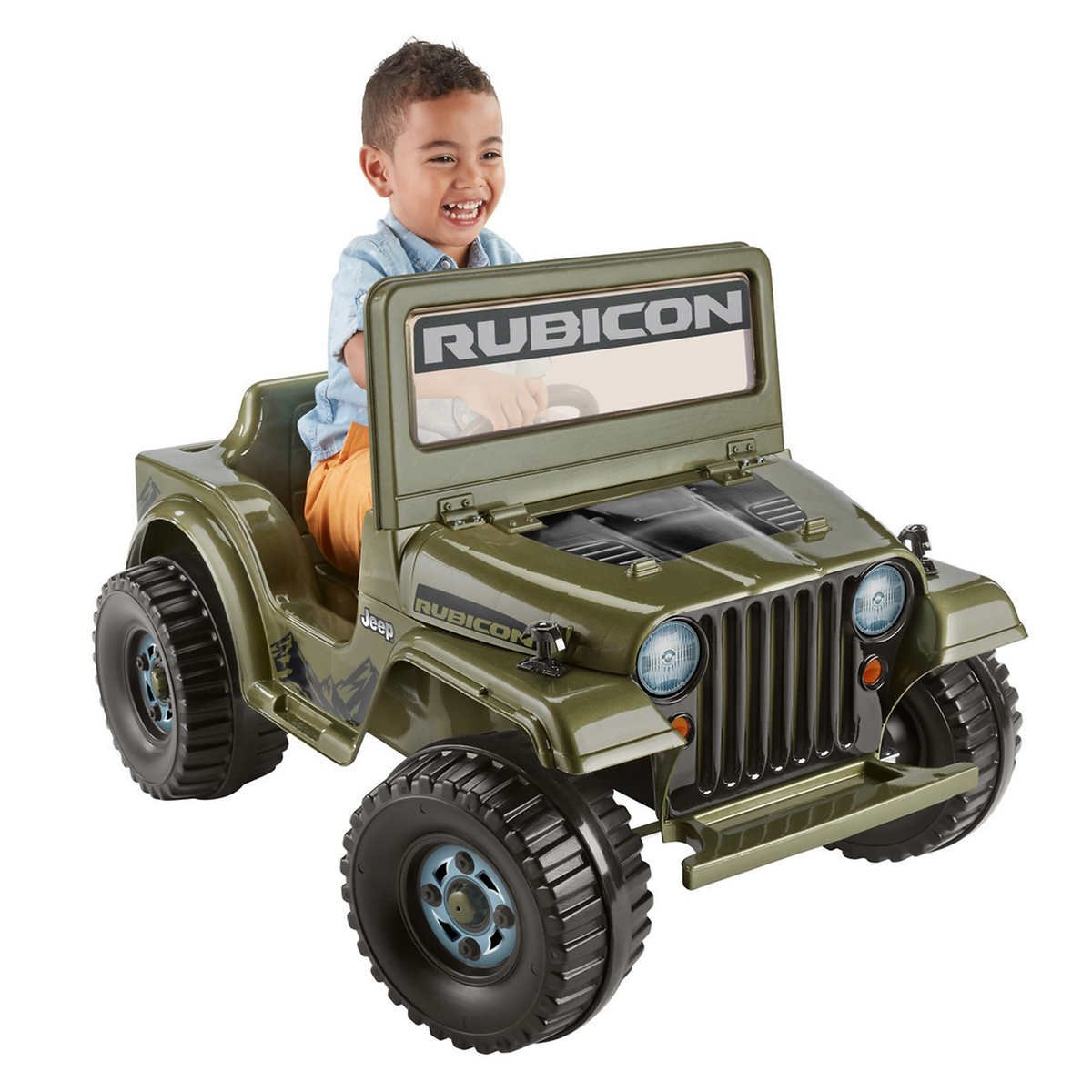 Power Wheels Jeep Rubicon Wrangler 6 V ride-on、機能Pretendラジオwithクリックノブ& Gear Shifter」、「Looks Just Like the Real Thing 。   B07D4PSPPB