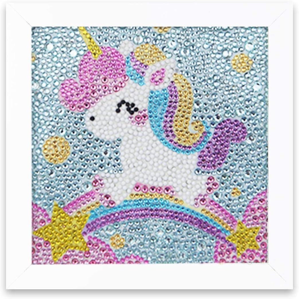 elk XUBX Diamond Painting for Kids,Diamond Art by Number Kits for Children Boys and Girls Gift