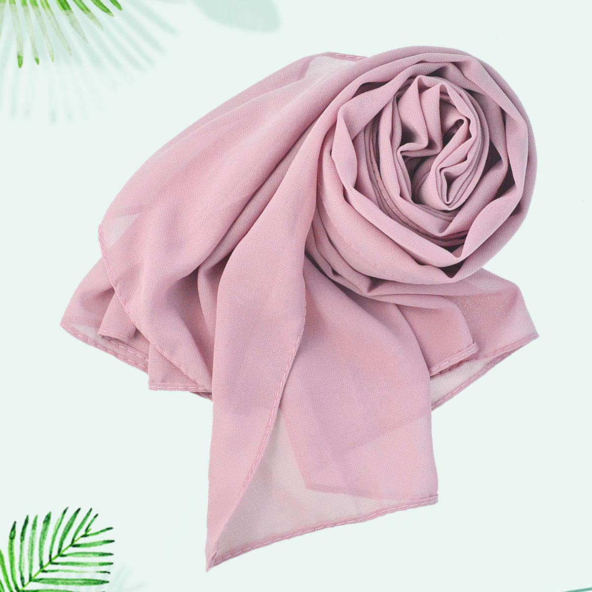Wobe 3pcs Women Soft Chiffon Scarves Shawl Long Scarf, Travel Sunscreen Summer Beach Cover Wrap Bridal Hijab Scarf Muslin Head Scarves by Wobe (Image #5)