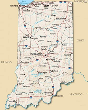 picture about Printable Map of Indiana titled : Property Comforts Indiana Place Highway Map Town