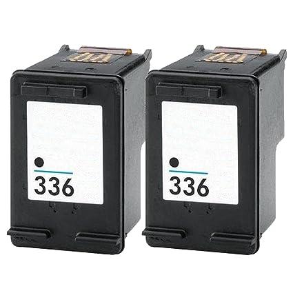 2 Cartuchos de Tinta Negro Compatible con HP 336 C9362EE Reman ...