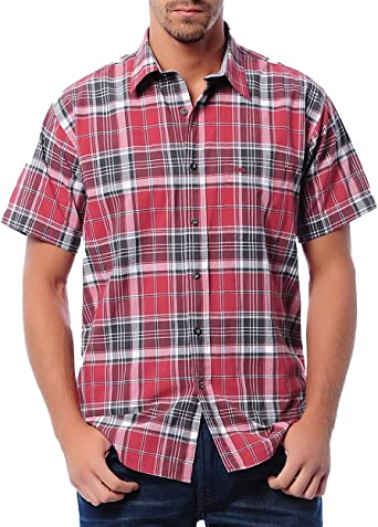 Lee Basic Check - Camisa para Hombre, diseño a Cuadros, Color Rojo Rojo S: Amazon.es: Ropa y accesorios