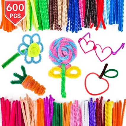 Amazon Com Proloso 600 Pcs Pipe Cleaners In 24 Assorted Colors