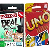 Travel Packet Card Game Pack Set 2 Uno Card and Monoply Deal Card