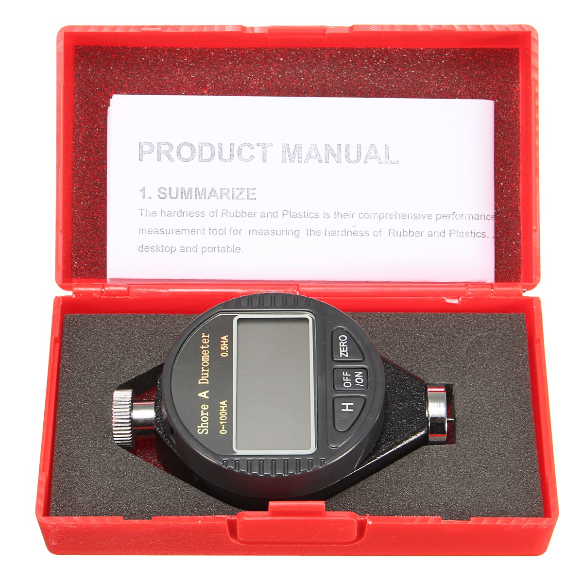 MASUNN 100Ha Digital Lcd Dureza Tester Caucho Tire Shore A Medidor De Neumaticos Durometer