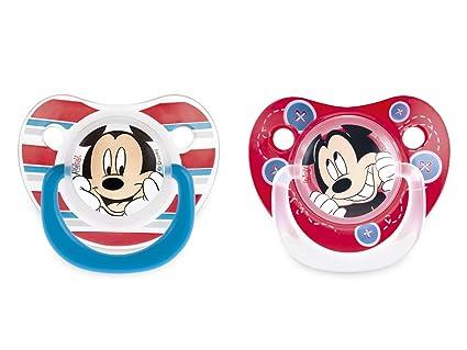 SISTEMA Paquete 2 chupetes de silicona caen Mickey 6m ...