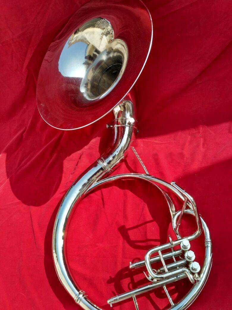 Sousaphone 22 Inche Bell Made of Brass in Chrome Polish With Free Case & MouthPc