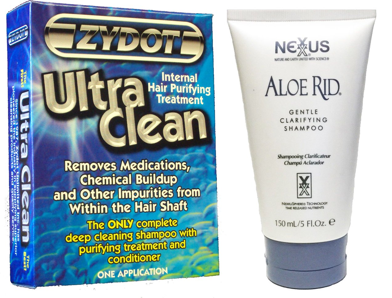 Nexxus Aloe Rid Clarifying Shampoo with Zydot Ultra Clean Shampoo by Nexxus