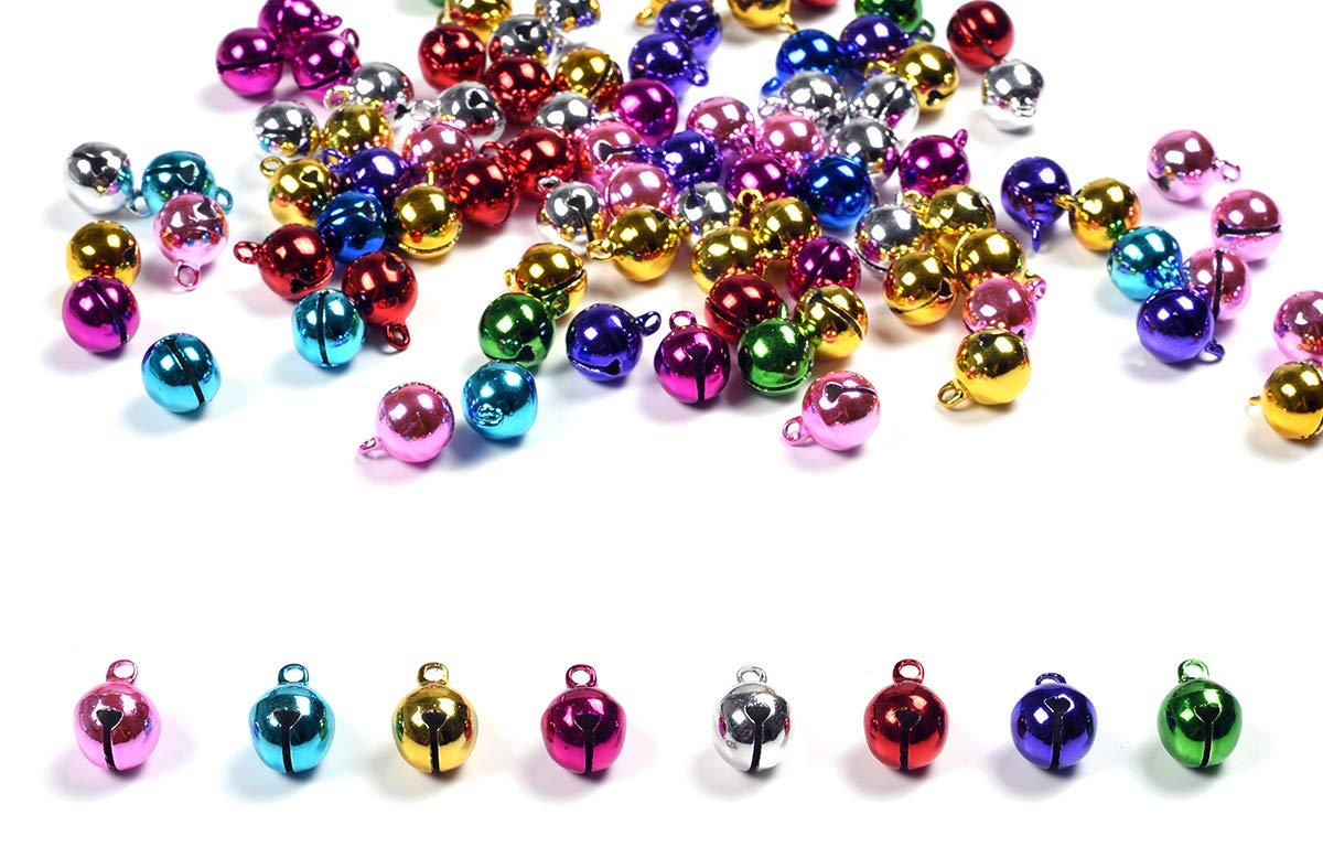 Colorful,30pcs Christmas Crafts Bells Jingle Bells,iKammo 22mm Big Bells DIY Bells for DIY Bracelet Anklets Necklace Knitting//Jewelry Making