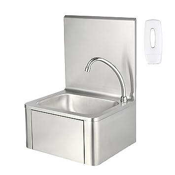 Edelstahl Waschbecken zelsius edelstahl handwaschbecken mit kniebetätigung und