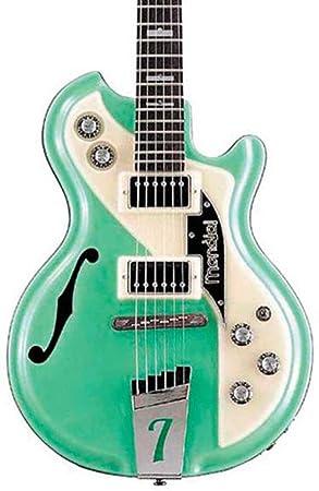 Italia Mondial Classic guitarra eléctrica – Verde – incluye carcasa rígida