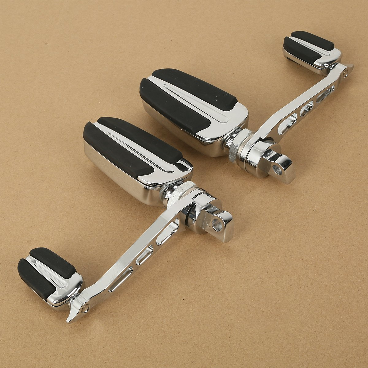 XMT-MOTO Slipstream Male Mount Foot Pegs W/Heel Rest For models with H-D male mount style footpeg supports 4336328138