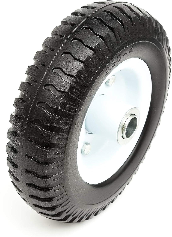 PU Solid Tyre /& Metal Jockey Wheel Puncture Proof 220x60 20mm Bore Caravan