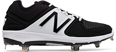 fa3ea8a97ac New Balance Men s 3000v3 Low Metal Baseball Cleats Gray White 16