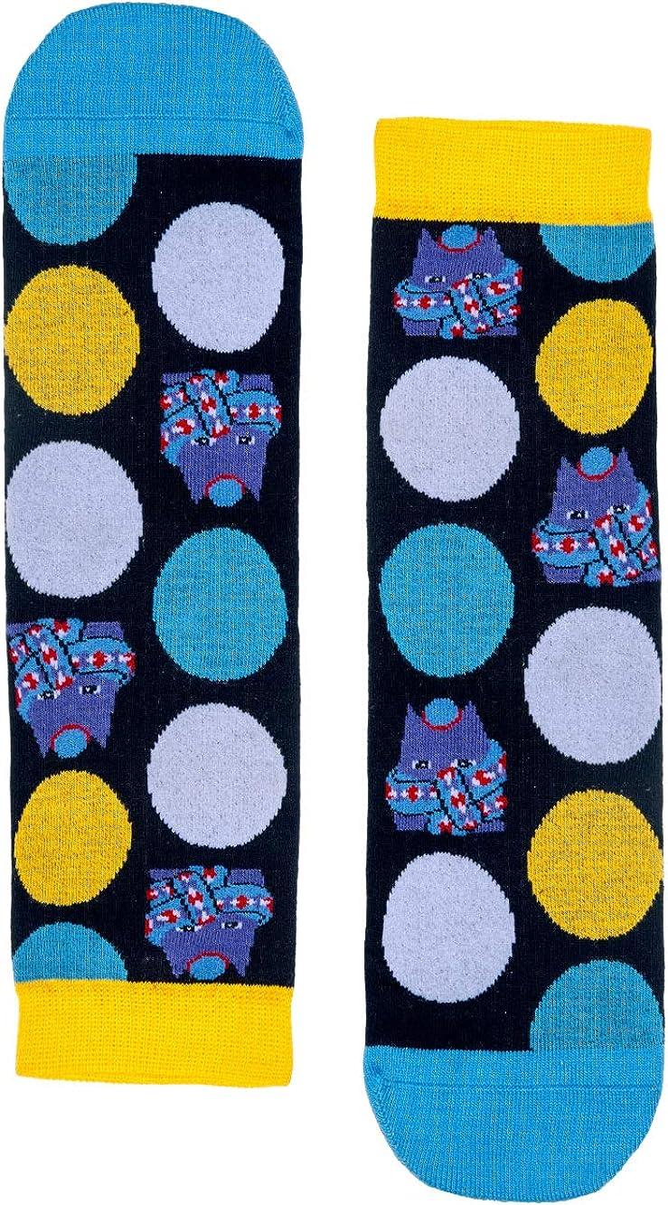 Rapone Womens Colourful Printed Casual Socks Pack of 4