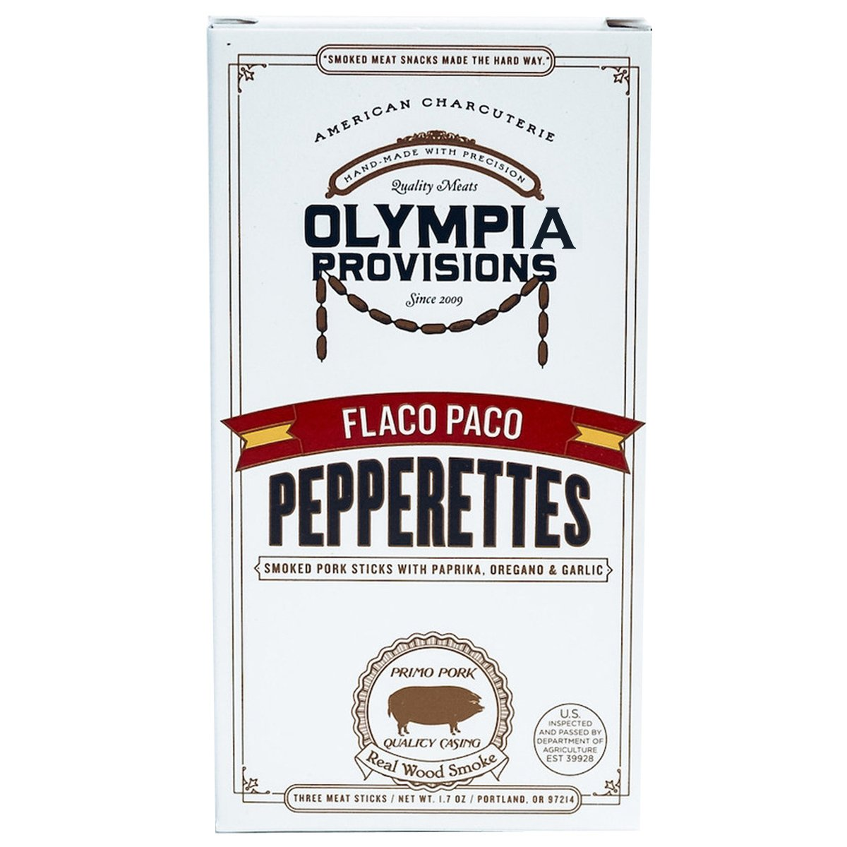 Olympia Provisions Flaco Paco Pepperettes - 2 Oz. (Pack of 3)