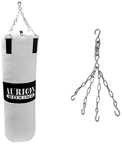 Aurion Canvas Punching Bag-Unfilled with Free Chain Heavy Bag