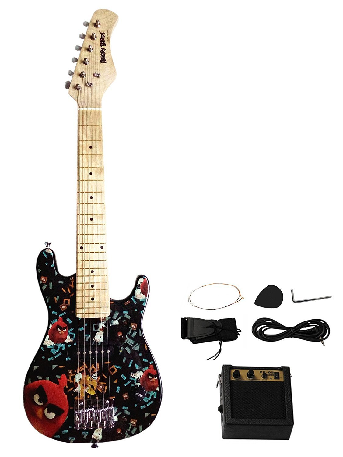 Berry Toys Angry Birds Electric Guitars, Black