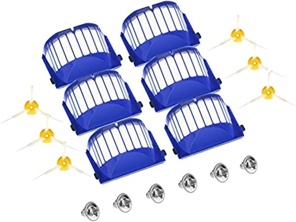 Gosear Filtros Cepillos Laterales Tornillos Kit de Repuesto Juego de Piezas para Robot Aspirador iRobot Roomba Serie 600 610 620 627 630 650: Amazon.es: Hogar