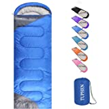 tuphen- Sleeping Bags for Adults Kids Boys Girls Backpacking Hiking Camping Cotton Liner, Cold Warm Weather 4 Seasons Winter,