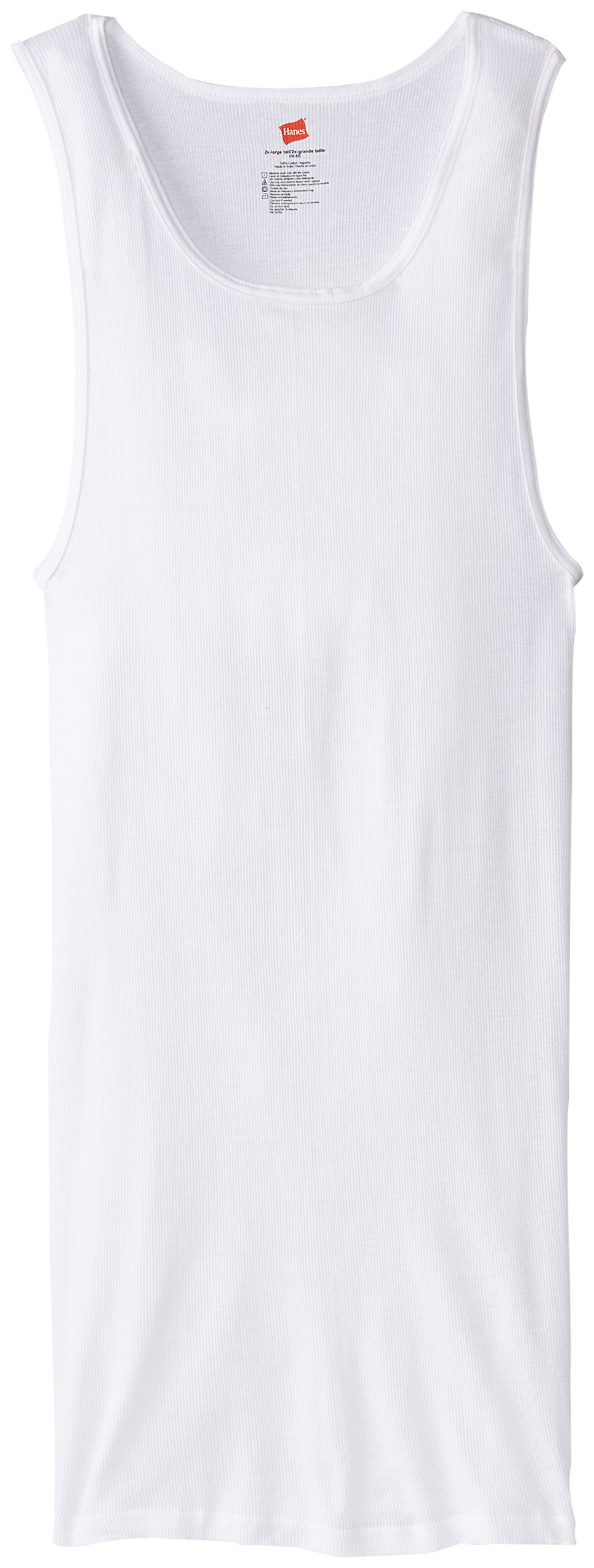 Hanes Men's Tall Man A-Shirt, White, X-Large/Tall (Pack of 3) by Hanes
