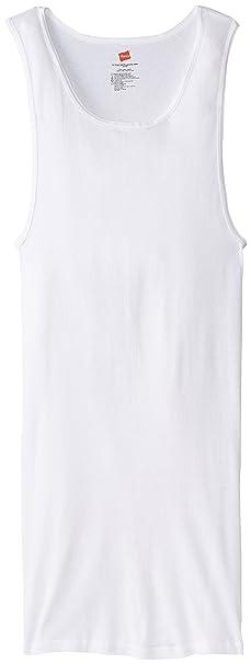 b6cacf1f60b7b3 Amazon.com  Hanes Men s Tall Man Ribbed Tank Top (Pack of Three)  Clothing