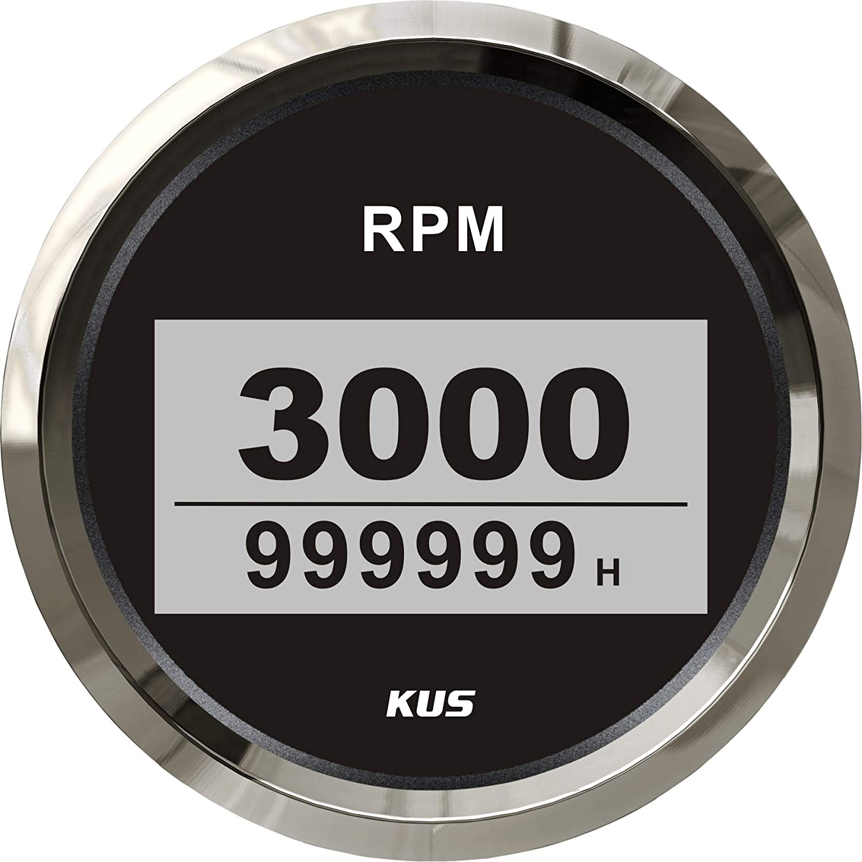 WS KUS DN85mm Digital Tachometer 0-3000rpm for Diesel Engine