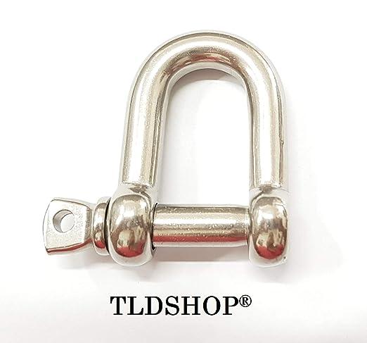TLDSHOP® Grillete recto inoxidable - Grillete para cuerda ...