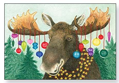 bright moose christmas cards